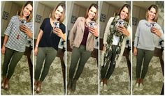 Olive jeans outfits for fall 2017! Five Ways to Wear Olive Jeans + Fall Challenge Giveaway! http://getyourprettyon.com/five-ways-wear-olive-jeans-fall-challenge-giveaway/?utm_campaign=coschedule&utm_source=pinterest&utm_medium=Alison%20Lumbatis%20%7C%20Get%20Your%20Pretty%20On&utm_content=Five%20Ways%20to%20Wear%20Olive%20Jeans%20%2B%20Fall%20Challenge%20Giveaway%21