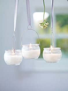 (via Three Hanging Glass Votives NEW - Party)