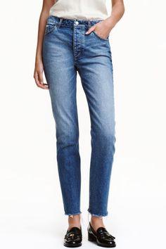 Straight Regular Jeans - Denim blue - Ladies   H amp M GB Jeans Bleu, fe28d90cc227