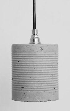 DIY concrete lamp - All For Decoration