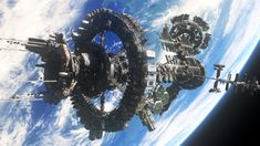 """The Ark, a space station from the TV show """"The 100,"""" houses the last-known survivors of a nuclear war on Earth. UCLA alumnus Andrew Orloff and his team at Zoic Studios were nominated for the Primetime Creative Arts Emmy Award in outstanding special and visual effects for their work on """"The 100."""" (Courtesy of CW)"""