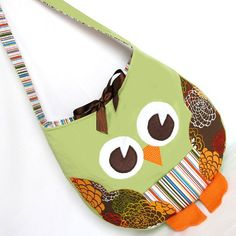 Funky Little Owl Bag, immediate download of pdf sewing pattern, free shipping