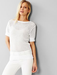 Mesh sweater top Product Image