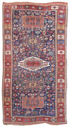 Kurdish rug, Northwest Persia, early 19th C.