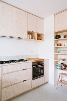 Small, wooden kitche