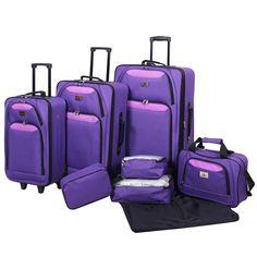 Verdi 8pc Luggage Set -Purple/Pink