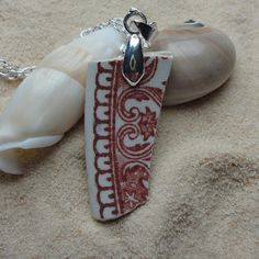 Sea glass pottery shard necklace by atreasurefromthesea on Etsy, $21.99