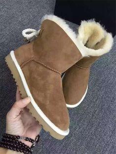 5ca9f007819b0 Pas cher New HOT australie classique femmes bottes d hiver marque en cuir  véritable retour Bailey arc décoration neige bottes de fourrure de  chaussures 6493 ...