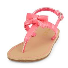 ce664cea238 Baby Girls Toddler Bow T-Strap Sandal - Pink Sandals - The Children s Place  Pink