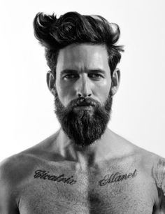Clayton Pyle Poses for Christoph Musiol what is there to say. SEXY hair, SEXY beard, SEXY everything Beards And Mustaches, Moustaches, Medium Beard Styles, Beard Styles For Men, Hair And Beard Styles, Hair Styles, Mr Beard, Beard No Mustache, Sexy Beard