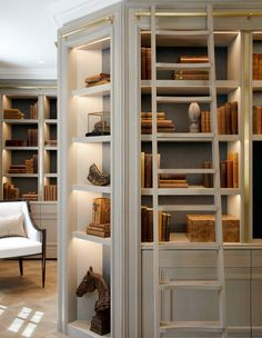 On my way to Isle of Man to professionally photograph this project. A personal favourite of mine, because of the design which of course I… Home Library Design, Home Office Design, Home Interior Design, Interior Architecture, House Design, Design Desk, Home Libraries, Style At Home, Built Ins