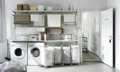 A wall-mounted drying rack, like ALGOT, helps save space while saving energy.