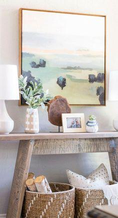 Home Decor – Entryway : Modern Entryway Makeover Console Table Living Room, Living Room Decor, Console Tables, Dining Room, Dining Table, Modern Entryway, Entryway Decor, Entry Foyer, Decoration Entree