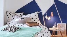 Des têtes de lits originales à faire soi-même. Decoration, Kids Room, Toddler Bed, Children, Furniture, Design, Home Decor, Bleu Marine, Houses