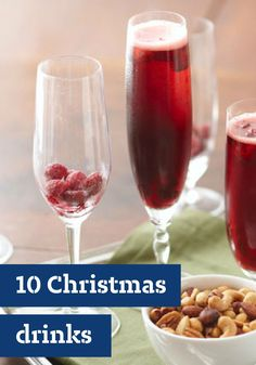 10 Christmas Drinks – From festive punches and mocktails to complement your party appetizer menu right on through to after-dinner coffees and dessert drinks, you're sure to find the beverage recipe for you! For help in planning your party drinks, be sure to check out our guides to cold beverage math and coffee for a crowd.
