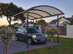 Carport - option éclairage d'ambiance à Leds Longueur : 7.64 m - Largeur : 3 m - Hauteur : 3 m