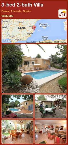 3-bed 2-bath Villa in Denia, Alicante, Spain ►€325,000 #PropertyForSaleInSpain