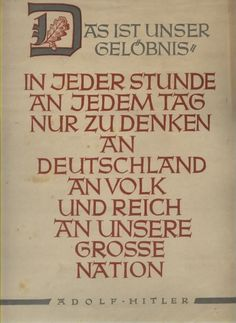Wochenspruch der NSDAP Reichspropagandaleitung ,April 1942