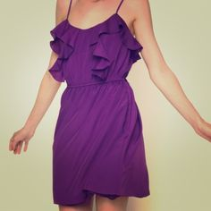 REDUCED‼️BCBG purple dress This light-weight dress is perfect to wear as a wedding guest. It is comfortable yet dressy and has great movement to it. The dress has adjustable straps, pockets and a slight sinch in the waist. Goes great with gold, silver or black heals. More great dresses in my closet! BCBGeneration Dresses Mini