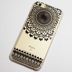 Black Henna Doily iPhone 6 / 6S Transparent Hard Case