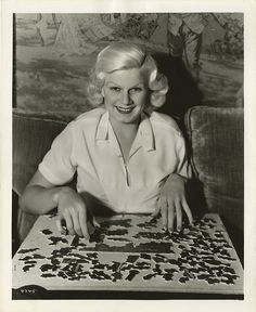 Portraits of Jean Harlow at her home by Clarence Sinclair Bull.
