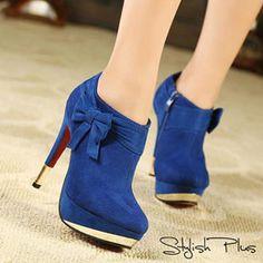 Stylish Plus Blue Boots - I Love Shoes, Bags & Boys