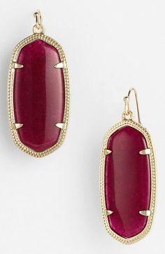 Kendra Scott 'Elle' Drop Earrings in Maroon Jade at Nordstrom.com.