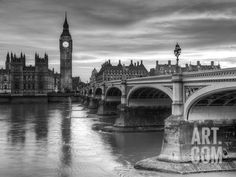The House of Parliament and Westminster Bridge Art Print by Grant Rooney at Art.com