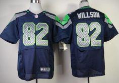 Nike Seattle Seahawks #82 Luke Willson Navy Blue Elite Jersey