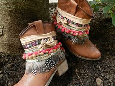Botas customizadas....