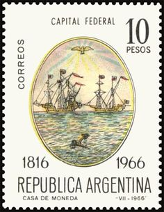 Capital Federal Declaration Of Independence, Planner Template, Postage Stamps, Templates, Pretty Letters, Door Bells, Boats, Venezuela, Argentina