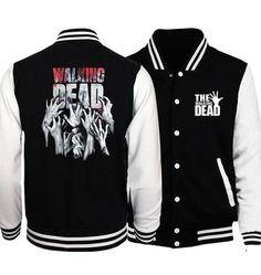 f819f710d83c3 Bomber Jacket Streetwear The Walking Dead Baseball Men Jacket 2017 Hot  Springmodkily Mens Spring Jackets