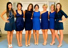 984e3e64903 blue cocktail dresses add a more formal feel to a recruitment event!