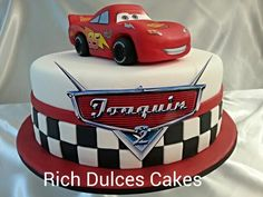 41 ideas cars cake for boys ideas Disney Cars Cake, Disney Cars Party, Cars Birthday Parties, 2nd Birthday, Lighting Mcqueen Cake, Car Cakes For Boys, Lightning Mcqueen Birthday Cake, Vintage Car Party, Monster Inc Birthday