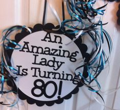 Birthday Decorations Giant Personalized Party by FromBeths 80th Birthday Party Decorations, 90th Birthday Parties, Happy Birthday Mom, Birthday Ideas, Birthday Signs, Birthday Celebration, Mason Jar Party, Milestone Birthdays, Party Shop