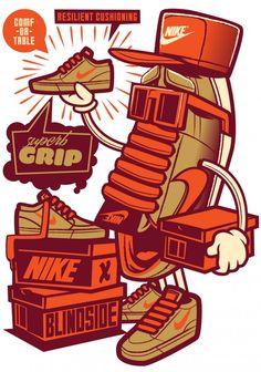 Nike SB x Blindside - Illustrator: Travis Price: Melbourne Victoria Australia Vector