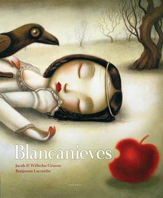 Edelvives, Benjamin Lacombe, Lacombe, Blancanieves, álbum ilustrado, ilustración, literatura infantil y juvenil, cuentos, lij.