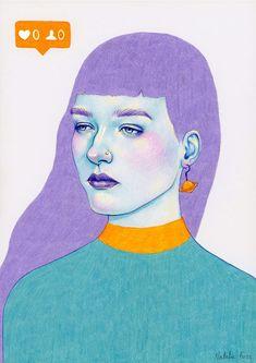 ᐅ Die 99 Besten Bilder von Illustration in 2019 Natalie Foss Art And Illustration, Portrait Illustration, Character Illustration, Illustration Fashion, Art Illustrations, Fashion Illustrations, Portrait Art, Portraits, Frida Art