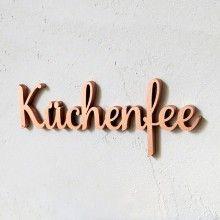 Küchenfee Küche Kochen NOGALLERY Gechenk Holz Schriftzug