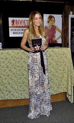 Lauren Conrad wearing Heartloom Maxi Dress on her book tour