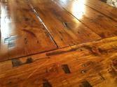 love the tones and distress in the wood Hardwood Floors, Flooring, Camper Van, Kitchen, Furniture, Wood Floor Tiles, Starcraft Campers, Cooking, Camper
