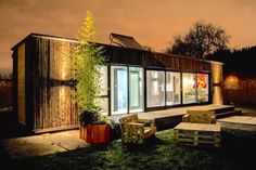 Ireland's first shipping container home was completed in just three days on the grounds of the Irish Museum of Modern Art (IMMA).