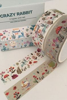 Super cute Forest Friends Washi Tape Design. So many patterns and colours to choose from, and so many crafty uses! Great for DIY craft decoration projects. Add that personal touch to frames, candles, notebooks and journals. Easy to use for kids craft acti