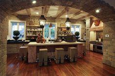 Come ristrutturare una casa in campagna - Cucina stile rustico