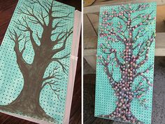 carnival lollipop tree game | piece of pegboard was painted for one of the games, the Lollipop Tree ...