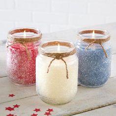 Glittered Jar Candles