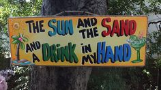 Tropical Tiki Hut Bar Parrothed Beach Pool Patio Sign Plaque