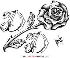 Amazing Rose With Mom Dad Banner Tattoo - Tattoes Idea 2015 / 2016