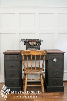 Typewriter Desk Makeover - Miss Mustard Seed