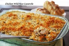 Chicken Wild Rice Casserole - Simple to prepare and always a crowd pleaser!